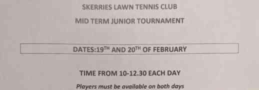 Mid Term Junior Tournament